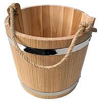 Ведро из дуба для бани 15 литров, фото 1