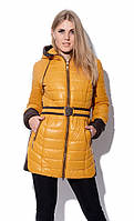 Женская куртка с капюшоном X-Woyz, 42р, горчица