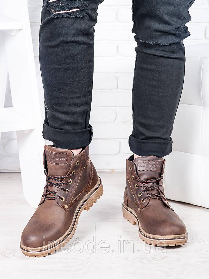 Коричневі чоловічі черевики 6813-28
