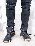Черные мужские ботинки 6814-28, фото 1