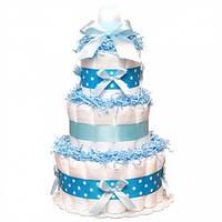 Торт из подгузников Blue Синий