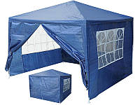 Палатка садовая, шатер, павильйон 3x3m + 4 стены Синий