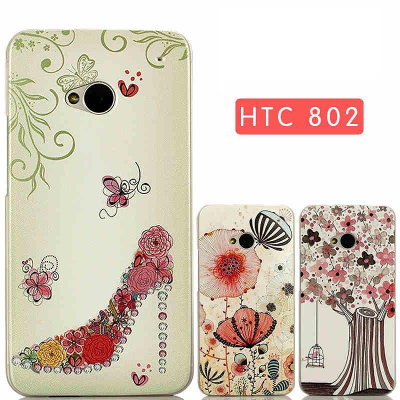 "HTC 802 dual sim ONE M7 фактурный 3D PC чехол панель накладка бампер для телефона c принтом рисунком ""SJ CLEAR"