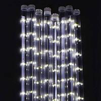 """Гирлянда светодиодная уличная С 31320 """"Сосулька"""" (50) 320 лампочек, длина провода 3 метра, 8 плафонов, длина лампочки 50 см, белый свет лампочек"""