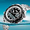 Наручные мужские часы Skmei 1204  DIRECT Черные с Белым кантом, фото 5