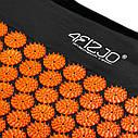 Коврик акупунктурный 4FIZJO Аппликатор Кузнецова 120 x 46 см 4FJ0047 Black/Orange, фото 2