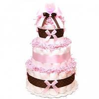 Торт из подгузников Pink Chocolate Розовый Шоколад