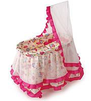 Кроватка MELOGO 9376 для кукол, с балдахином