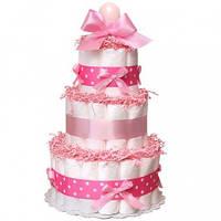Торт из подгузников Pink Розовый