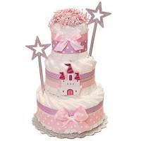 Торт из подгузников Princess Castle Принцесса