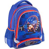 Купить рюкзак школьный Кайт для мальчика Motocross K18-517S