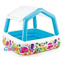 Детский надувной бассейн с надувной съемной крышей 57470