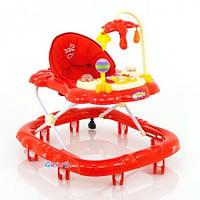 Ходунки с мягким сиденьем, музыкальные, красные, JOY D 28
