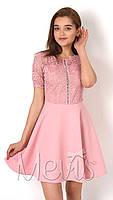 Нарядное платье для девочки-подростка Mevis розовое 2915-01