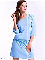 Удобная ночная сорочка Добраночка Польша бледно голубой цвет