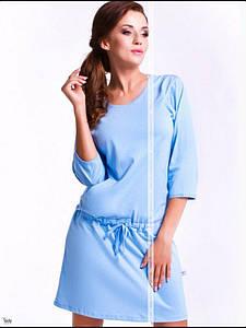 Зручна нічна сорочка Добраночка Польща блідо блакитний колір