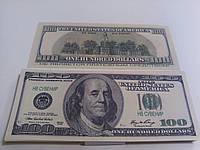 Купюра сувенирная 100 долларов