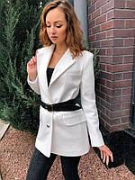 Пиджак Классика рубчик белый #O/V