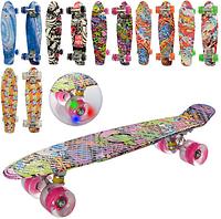 Скейт детский, пени борд со светящимися колесами, MS 0748 - 3