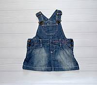 Детский Сарафан Джинсовый  на девочку 4-6 месяцев  68 см Logg