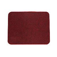 Электрический коврик с подогревом Теплик с термоизоляцией 50 х 40 см Темно-красный