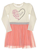 Трикотажное платье Breeze Love молочное 12780