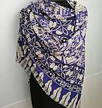 10477-14, павлопосадский платок из вискозы с подрубкой, фото 5