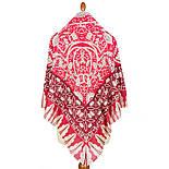 10477-5, павлопосадский платок из вискозы с подрубкой, фото 2