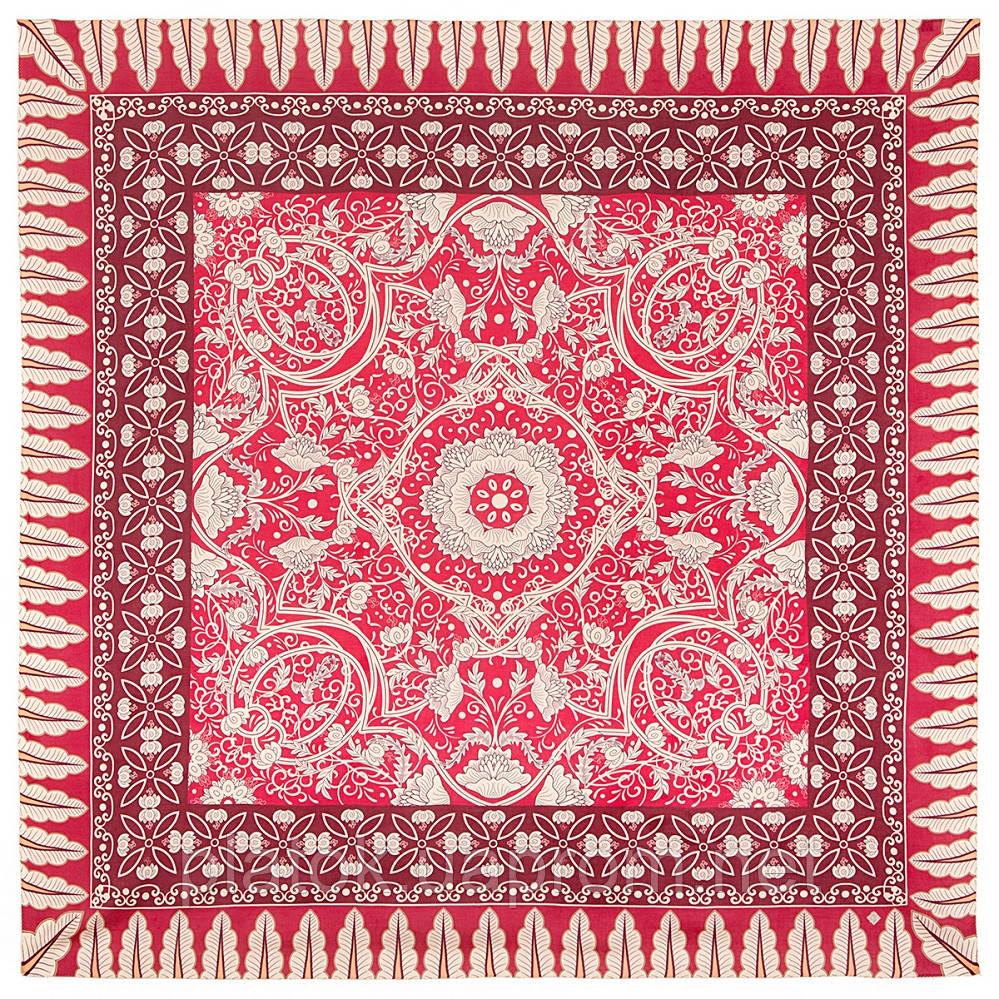 10477-5, павлопосадский платок из вискозы с подрубкой
