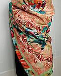 10527-2, павлопосадский платок из вискозы с подрубкой, фото 9