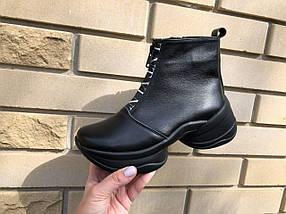 Стильні жіночі черевики чорного кольору на блискавці 36-40 р, фото 3
