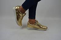 Кроссовки подростковые Ditas 00-30 золото кожа, фото 1