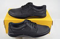 Туфли мужские CLUB SHOES 19-28 чёрные нубук на шнурках, фото 1