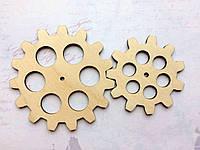 Шестеренки пара 6 и 8 см. Заготовки из фанеры