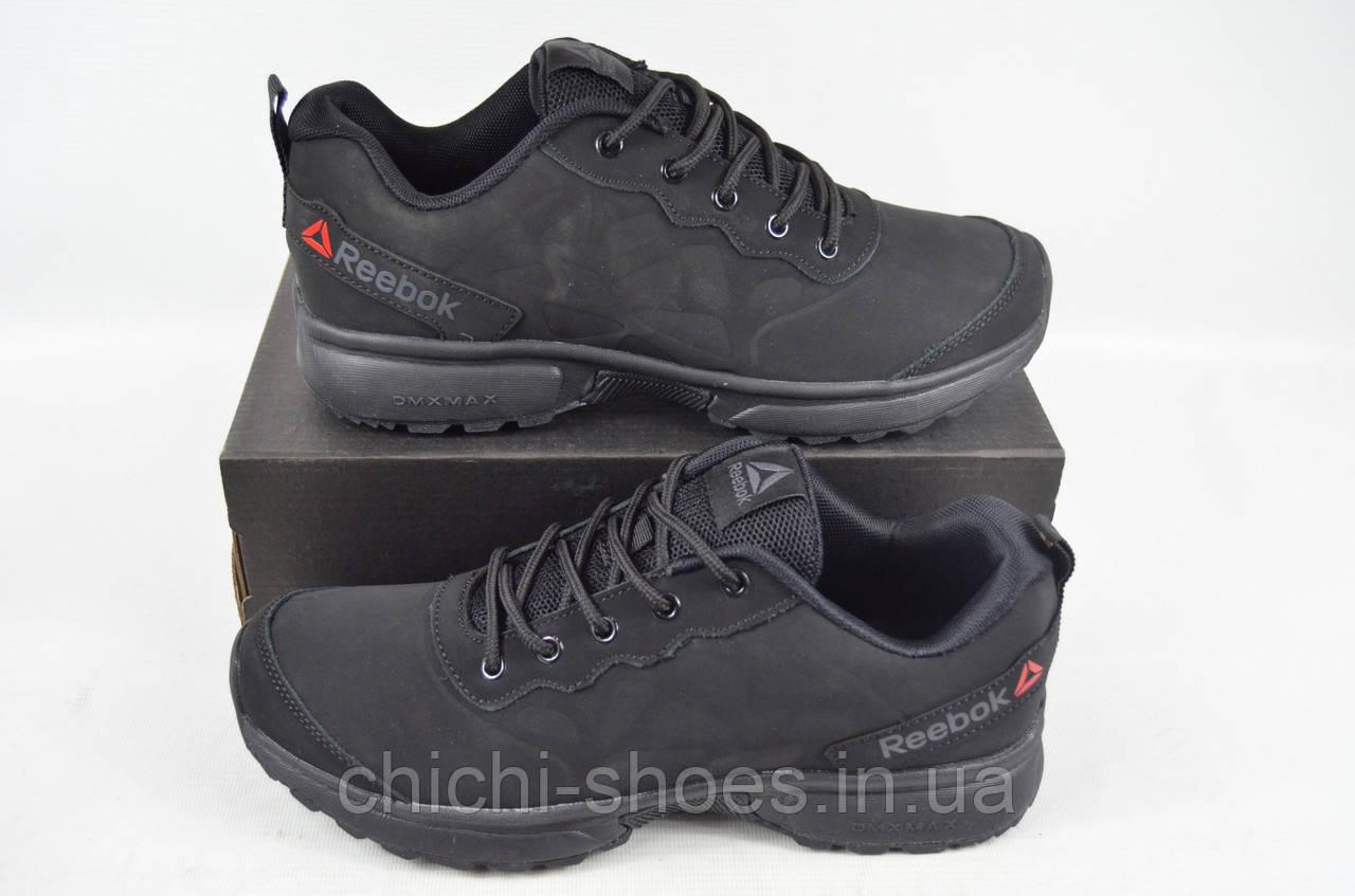 Кроссовки мужские REEBOK 595-1 (реплика) нубук чёрные