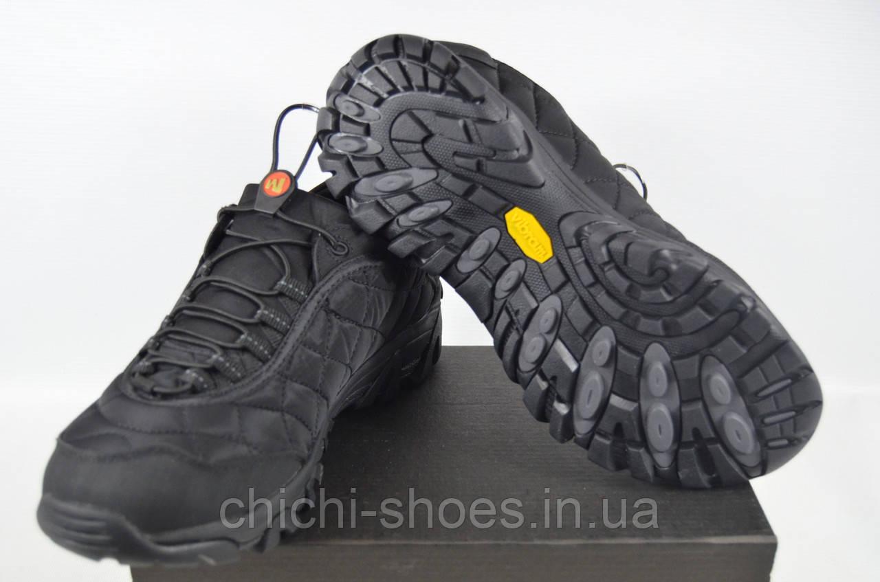 Кроссовки мужские MERELL 628-2 (реплика) текстиль чёрные