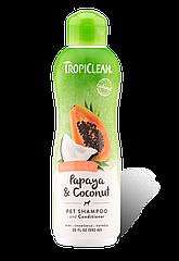 Шампунь- кондиционер TropiClean Papaya&Coconut 355ml папайя/кокос
