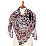 Фергана 1856-18, павлопосадский платок из вискозы с подрубкой, фото 3