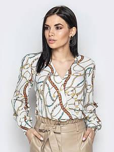Блузка Angelina белые цепи 000781 #O/V