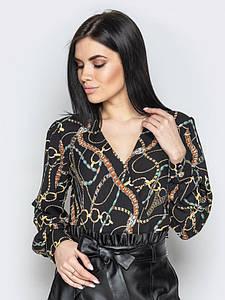 Блузка Angelina черные цепи 000780 #O/V