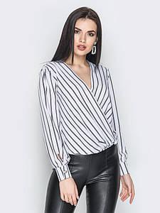 Блуза Angelina белая полоска 000741 #O/V