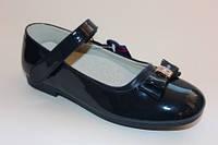 Лаковые туфельки для девочек ТМ Apawwa синие 35,37р.