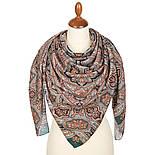 Фергана 1856-12, павлопосадский платок из вискозы с подрубкой, фото 2