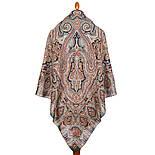 Фергана 1856-12, павлопосадский платок из вискозы с подрубкой, фото 3
