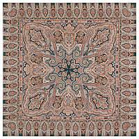 Фергана 1856-12, павлопосадский платок из вискозы с подрубкой, фото 1