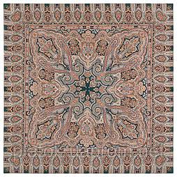 Фергана 1856-12, павлопосадский платок из вискозы с подрубкой