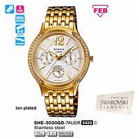 Женские часы CASIO Sheen SHE-3030GD-7AUER оригинал