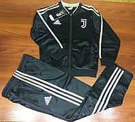 Спортивный костюм детский в стиле Adidas Juventus чёрно-золотой сезон 2019-20
