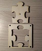 Пазл - заготовка из фанеры для бизикубика из дерева.