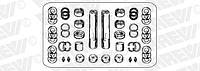 81442056013  Ремкомплект шкворня (на ось) 50х223 MAN F2000, F90, M2000, M90 ERREVI (Италия)